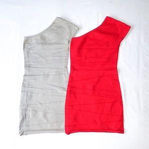 One-Shoulder Bodycon Mini Dress